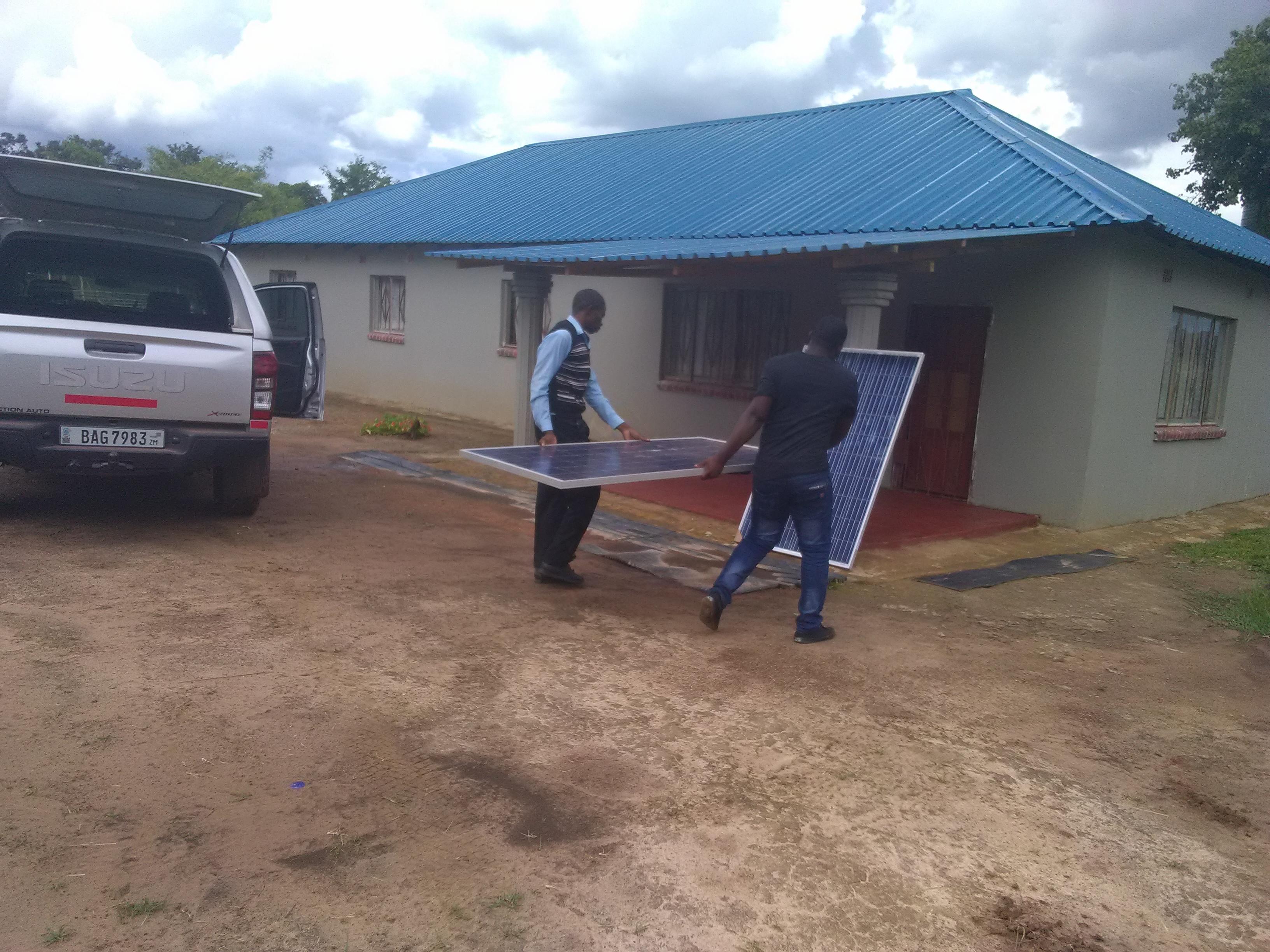 Offloading of Solar Panels